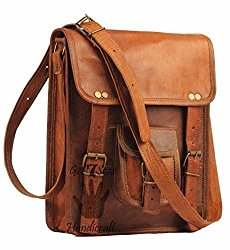 11 x 9 inch Vintage genuine vintage leather ipad/tablet/tab/kindle satchel crossbody shoulder messenger bag