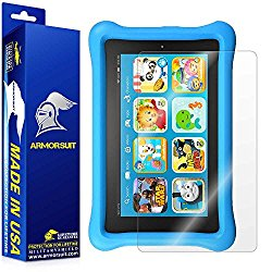 ArmorSuit MilitaryShield – Amazon Fire Kids Edition 7″ Screen Protector (2015 Released) Anti-Bubble Ultra HD & Touch Responsive + Lifetime Replacement