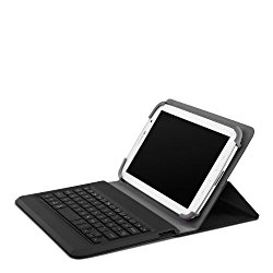 Belkin QODE Universal Portable Keyboard for 7-Inch and 8-Inch Tablets (Compatible with iPad mini and Galaxy Tab 4)(F5L154ttBLK)