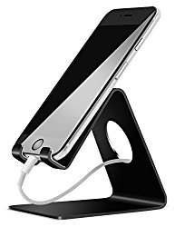 Cell Phone Stand, Lamicall S1 Dock : Cradle, Holder, Stand For all Android Smartphone, iPhone 6 6s 7 Plus 5 5s 5c charging, Accessories Desk – Black