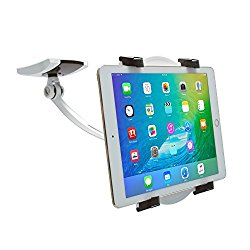 CTA Digital Wall/Under-Cabinet & Desk Mount with 2 Mounting Bases for 7-12″ Tablets PAD-WDM