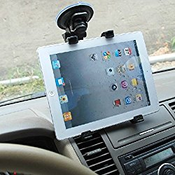 Dealgadgets Tablet Car Mount Holder Universal Mounts for Samsung Galaxy Tab 4 3/ iPad Mini/iPad Air 2 /iPad Air/iPad 4/iPad 3/ iPad 2(Revised Version – Use with All 7-10 inch tablets)