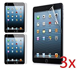Etech Crystal Clear Screen Protector Film for Apple iPad mini, iPad mini 2, iPad Mini 3 with Retina Display, 3-Pack