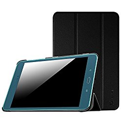 Fintie Samsung Galaxy Tab A 8.0 Case – Ultra Slim Lightweight Smart Shell Stand Cover with Auto Sleep/Wake Feature for Tab A 8.0 Inch Tablet, Black