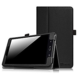 Fintie Samsung Galaxy Tab E 8.0 Case – Slim Fit Premium PU Leather Folio Stand Cover for Galaxy Tab E 8″ (Sprint / US Cellular / Verizon / AT&T) SM-T377 4G LTE 8-Inch Tablet, Black