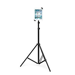 Grifiti Nootle Universal iPad and Tablet Tripod Stand Adjustable for iPad mini, iPad Air, iPad 1,2,3,4, Samsung Galaxy, Dell, Sony, Microsoft Surface, Google Nexus and all 7″ to 11″ Tablets with or without cases 1/4-20 Connector for Displays, Photos, Movies, Videos.