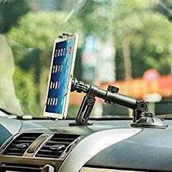 Heavy Duty Premium Car Mount Dash and Windshield Tablet Holder for iPad Pro 9.7, Air, Air 2 – iPad Mini 2 3 4 Retina – iPad 2 3 4 – Galaxy Tab A, Tab S, LG G Pad