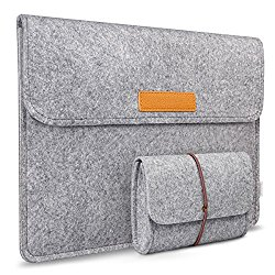 Inateck 2016 MacBook Pro 13 Inch Sleeve/ Surface Pro 4 & 3 Case Cover, Compatible with iPad Pro 12.9″ – Gray (SP1003)