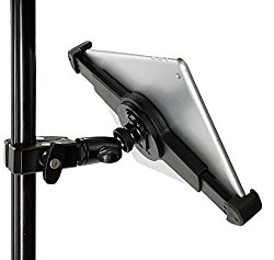 iShot G10 Pro Universal iPad Tablet Tripod Monopod and Mic Music Stand Mount + HD Metal Pipe Pole Bar Clamp – Works with or without cases 1/4-20 Connector for Displays, Photos, Movies, Videos and more