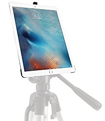 iShot G8 Pro iPad Pro 12.9 Tripod Mount – Securely Mount Your Apple iPad Pro to Any 1/4 inch Thread Standard Camera Tripod, Monopod, Mic Stand or Music Stand – Custom Fit Easy Snap in/out Feature
