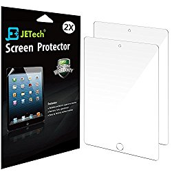 JETech 2-Pack PET HD Screen Protector Film for Apple Apple iPad Pro 9.7 / iPad Air 2 / iPad Air First Edition – 0330