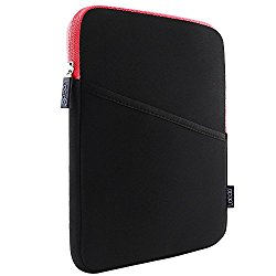 Lacdo 10.1-inch Shockproof Tablet Sleeve Case Cover Protective Pouch Bag for Apple 9.7″ ipad pro / iPad Air 2 With Retina Display / iPad 4,3,2 / Samsung Galaxy Tab 4, 3, Note Tablets, Red/Black