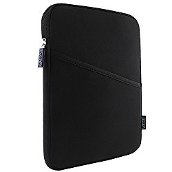 Lacdo 7-8 inch Water Repellent Tablet Sleeve Case Cover Protective Pouch Bag for Apple iPad Mini 3,2, 7.9″ with Retina Display,Google Nexus 7,FHD,Samsung GALAXY Tab 4,3,2, ASUS Tablets,Black/Black
