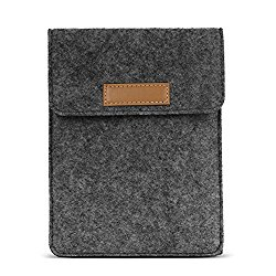 MoKo Sleeve for Kindle Paperwhite / Kindle Voyage, Protective Felt Cover Pouch Bag for Amazon Kindle Paperwhite / Voyage / All-New Kindle(8th Gen, 2016) / Kindle Oasis 6-Inch E-Reader, Dark Gray
