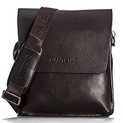 OFTEN Men's Genuine Leather Handbag Shoulder Briefcase Business Bag iPad Mini Bag Business Bag