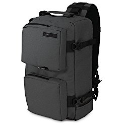 Pacsafe Camsafe Z14 Anti-Theft Camera and Tablet Cross-Body Pack, Charcoal