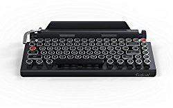 QWERKYWRITER by Qwerkytoys Typewriter Wireless Mechanical Keyboard with Integrated Tablet Stand