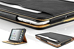 S-Tech Soft Leather Sleep/Wake Flip Case for Apple iPad 2, 3, and 4th Generation