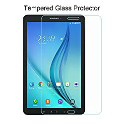Samsung Galaxy Tab E 8.0 Screen Protector – ACdream Premium HD Tempered Glass Screen Protector for Samsung Galaxy Tab E 8.0 Inch Tablet 2016 Release with 9H Hardness / Scratch Resist – Ultra Clear
