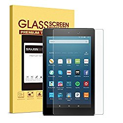 SPARIN 9H Hardness 2.5D Round Edge Bubble-Free Tempered Glass Screen Protector for Fire HD 8