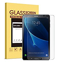 SPARIN Galaxy Tab A 10.1 Screen Protector (SM-T580 ONLY), NOT for S Pen Version, [0.3mm, 2.5D] [Tempered Glass] [Bubble-Free] [Easy Installation] Screen Protector for Samsung Galaxy Tab A 10.1
