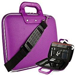 SumacLife Violet Reinforced Travel Cady Shoulder Bag fits Toshiba : Satellite Click 10 , 2-in-1 Tablets