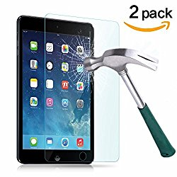 TANTEK Anti-Scratch, Anti-Glare, Anti-Fingerprint and Bubble-Free Tempered Glass Screen Protector for 7.9-Inch iPad Mini 1/2/3 – Clear (2-Pack)