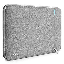 Tomtoc 360° Protective Sleeve Case Cover for 13-13.3 Inch MacBook Pro Retina (2015)/ MacBook Air/ 12.9 Inch iPad Pro, Shockproof, Spill-Resistant Laptop Bag Carrying Case, Gray