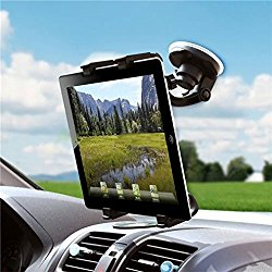 Universal 360 Degree Rotatable Windshield Car Mount Window Tablet Holder for Samsung Galaxy Tab E NOOK 9.6 – Galaxy Tab S2 NOOK 8.0 – Galaxy Tab 4 NOOK 7.0 – Galaxy Tab 4 NOOK 10.1