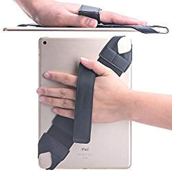 Universal Tablet Hand Strap Holder, Joylink 360 Degrees Swivel Leather Handle Grip with Elastic Belt, Secure & Portable for All 10.1″ Tablets (Samsung Asus Acer Google Lenovo Kindle iPad), Black