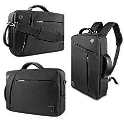 VanGoddy Collection 3 in 1 Shoulder Bag Backpack and Messenger Bag for Microsoft Surface Pro 4 / Pro 3 12-inch Tablet / Surface Pro 2 10.6-inch Tablet (Black)