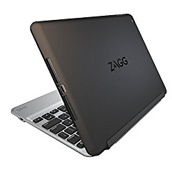 ZAGG Slim Book Ultrathin Case, Hinged with Detachable Backlit Keyboard for iPad mini 2 / iPad mini 3 – Black