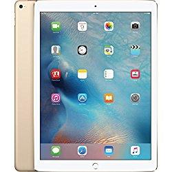 Apple iPad Pro Tablet (128GB, Wi-Fi, Gold) 12.9″ (Certified Refurbished)