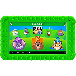 School Zone Little Scholar Best Kids 7″ Tablet, Ages 3-7, PreK-1st Grade, +Bumper, Android, Quad-Core, 16 GB, Wi-Fi, Front & Rear Camera, Green (08611)