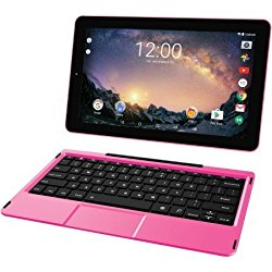 2018 RCA Galileo Pro 2-in-1 11.5″ Touchscreen High Performance Tablet PC, Intel Quad-Core Processor 32GB SSD 1GB RAM WIFI Bluetooth Webcam Detachable Keyboard Android 6.0 Pink