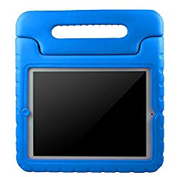 AVAWO Kids Case for Apple iPad 2 3 4 – Light Weight Shock Proof Convertible Handle Stand Kids Friendly for iPad 2, iPad 3rd generation, iPad 4th generation Tablet – Blue