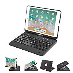 BATTOP iPad Mini Keyboard – Swivel 360 Degree Rotatable Bluetooth Keyboard Case – iPad Mini Bluetooth Keyboard – Compatible ipad Mini 3/iPad Mini 2/iPad Mini -black