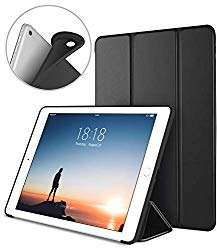 DTTO iPad 9.7 Case 2018 iPad 6th Generation Case/2017 iPad 5th Generation Case, Slim Fit Lightweight Smart Cover with Soft TPU Back Case for iPad 9.7 2018/2017 [Auto Sleep/Wake] – Black