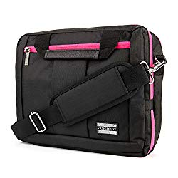 El Prado Collection 3 in 1 Backpack and Messenger Bag for Apple iPad Pro 12.9″/Apple iPad Air 2 9.7″/Apple iPad Mini 4 7.9″ Tablets (Pink)