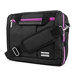 El Prado Collection 3 in 1 Backpack and Messenger Bag for LG G Pad X 10.1″/LG G Pad 10.1-inch Tablets (Purple)