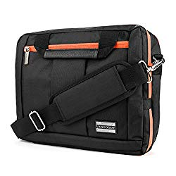El Prado Collection 3 in 1 Backpack and Messenger Bag for RCA 11 Maven Pro/RCA 10 Viking Pro/RCA Cambio W101/RCA Pro 10 Edition II 10.1 to 11.6″ Tablets (Orange)