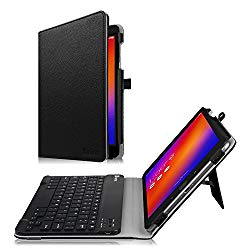 Fintie Asus ZenPad 3S 10 Z500M / ZenPad Z10 ZT500KL Keyboard Case – Slim Fit Folio Stand Cover w/Detachable Wireless Bluetooth Keyboard for Verizon Asus ZenPad Z10 / 3S 10 9.7-inch Tablet, Black