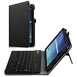 Fintie Keyboard Case for Samsung Galaxy Tab E 8.0, Slim Fit Folio PU Leather Case with Detachable Magnetical Bluetooth Keyboard for Galaxy Tab E 32GB SM-T378/ Tab E 8.0 SM-T375/T377, Black