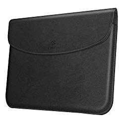 Fintie Sleeve Case for New Microsoft Surface Go – Slim Fit Vegan Leather Protective Cover w/Stylus Loop for Microsoft Surface Go 10″ Tablet, Compatible with Type Cover Keyboard (Black)