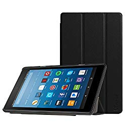 Fintie Slim Case for All-New Amazon Fire HD 8 Tablet (7th and 8th Generation Tablets, 2017 and 2018 Releases), Ultra Lightweight Slim Shell Standing Cover with Auto Wake/Sleep, Black