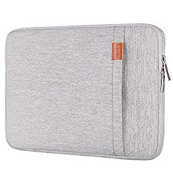Lacdo 13.3 Inch Laptop Sleeve for 13 Inch MacBook Air | MacBook Pro Retina 2012 – Early 2016 | 12.9 Inch iPad Pro | Surface Book | 360° Protective HP Dell ASUS Chromebook Case, Water Repellent, Gray