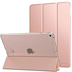 Moko Case for iPad Pro 10.5 – Slim Lightweight Smart Shell Stand Cover with Translucent Frosted Back Protector for Apple iPad Pro 10.5 inch 2017 Released Tablet, Rose Gold (Auto Wake/Sleep)