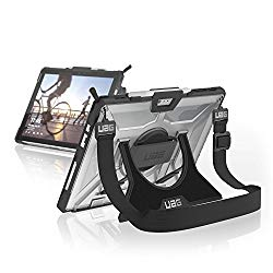 UAG Microsoft Surface Pro (2017) / Surface Pro 4 with Hand Strap & Shoulder Strap Plasma Feather-Light Rugged [ICE] Military Drop Tested Case