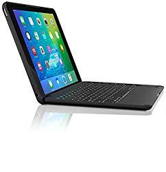 ZAGG Folio Case with Wireless Backlit Keyboard for 2017 [Gen 5] and 2018 [Gen 6] Apple iPad 9.7″ – Black