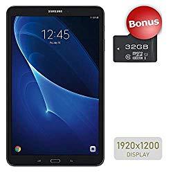 Samsung Galaxy Tab A 10.1'' Touchscreen (1920×1200) Wi-Fi Tablet, Octa-Core 1.6GHz Processor, 2GB RAM, 16GB Memory, Dual Cameras, Bluetooth, 32GB MicroSD Card, Android OS, Choose Your MicroSD